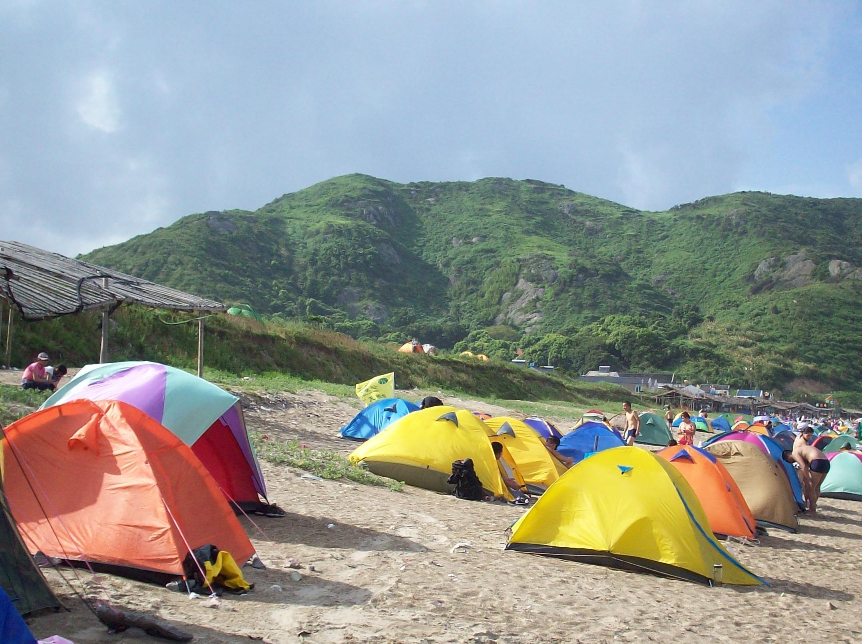 1214象山毛湾渔村海边露营活动