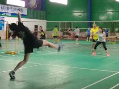 9月8日晚羽翔俱乐部羽毛球活动。