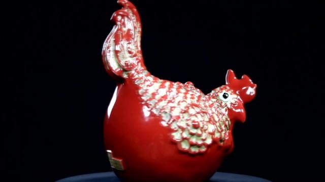 陶雕塑之鸡