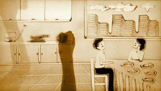 古筝沙画演绎《一碗饭的温度》