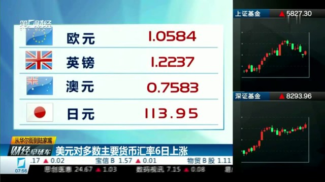 美元对多数主要货币汇率6日上涨
