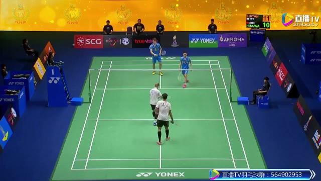 2017羽联黄金大奖赛泰国站-男双决赛-中国vs中华台北