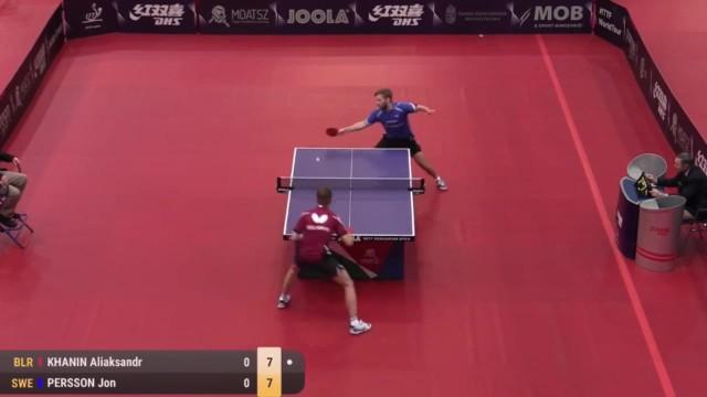 匈牙利公开赛 卡哈尼恩 vs Jon Persson