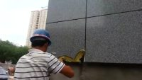 咸阳法院项目TY-09特种砂浆粘结强度现场测试