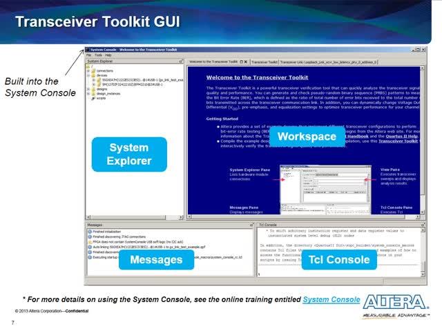 Intel FPGA的收发器工具包介绍