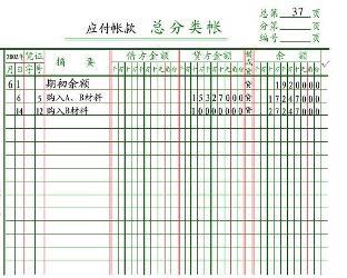横线登记式账簿图片_总账 - 搜狗百科