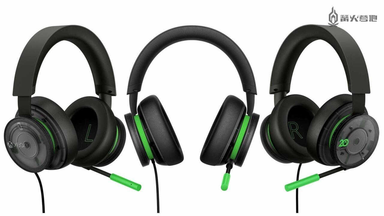 微软官方正式公布 Xbox 20 周年纪念手柄与耳机周边