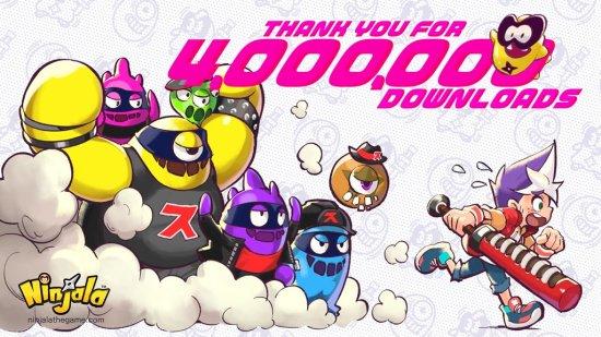 《泡泡糖忍战》欢庆下载超过 400 万 玩家可获虚拟货币
