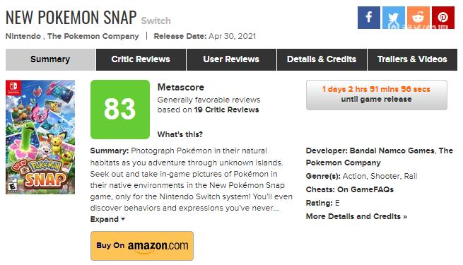 《New 寶可夢隨樂拍》全球媒體評分解禁,IGN 給出 8 分