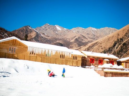 鹧鸪上冰雪世界滑雪