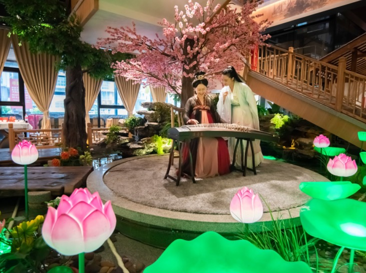 约在33小镇食悦围城学习汉服及传统文化