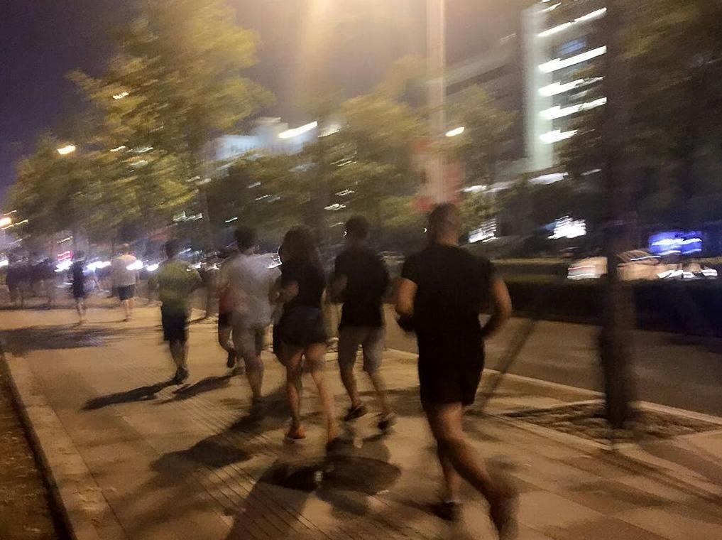【唤醒系列】椒江夜跑团市民广场5公里跑6
