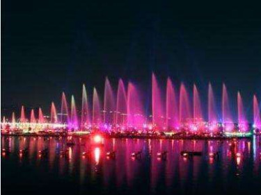 6.7(周五)夜徒金鸡湖,赏音乐喷泉