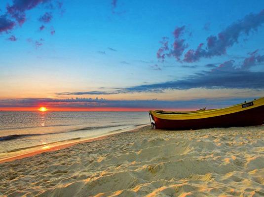 五一·东戴河止锚湾,看日出日落