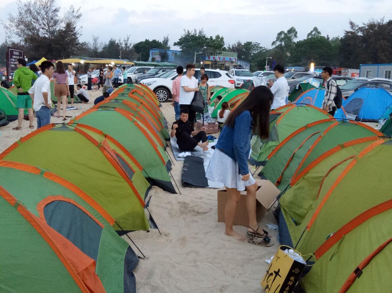 五一惠州盐洲岛露营K歌摄影游玩活动