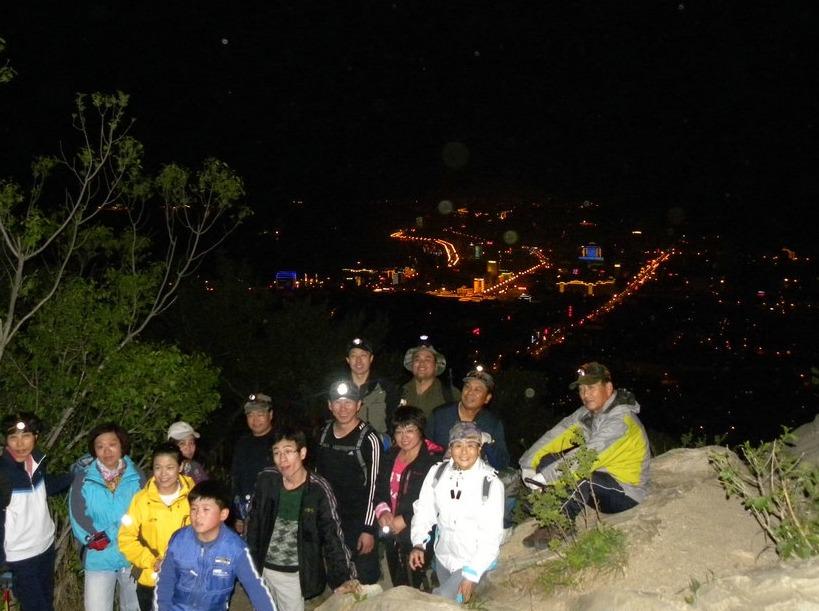 在阳江,一起夜爬山