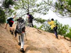 周日早晨来爬越王山