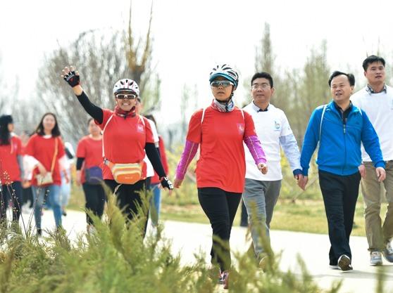 芜湖滨江公园徒步活动
