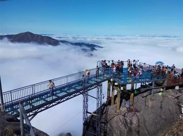 登金子山天梯、玻璃桥,油岭瑶寨徒步二日游
