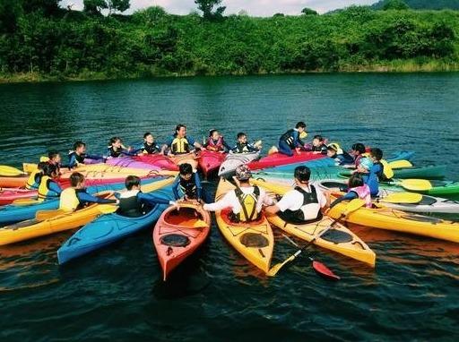 五一   千岛湖皮划艇、登顶天屿山