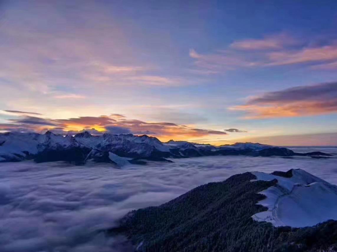 二郎山红岩顶 登山看日落日升 云海星空