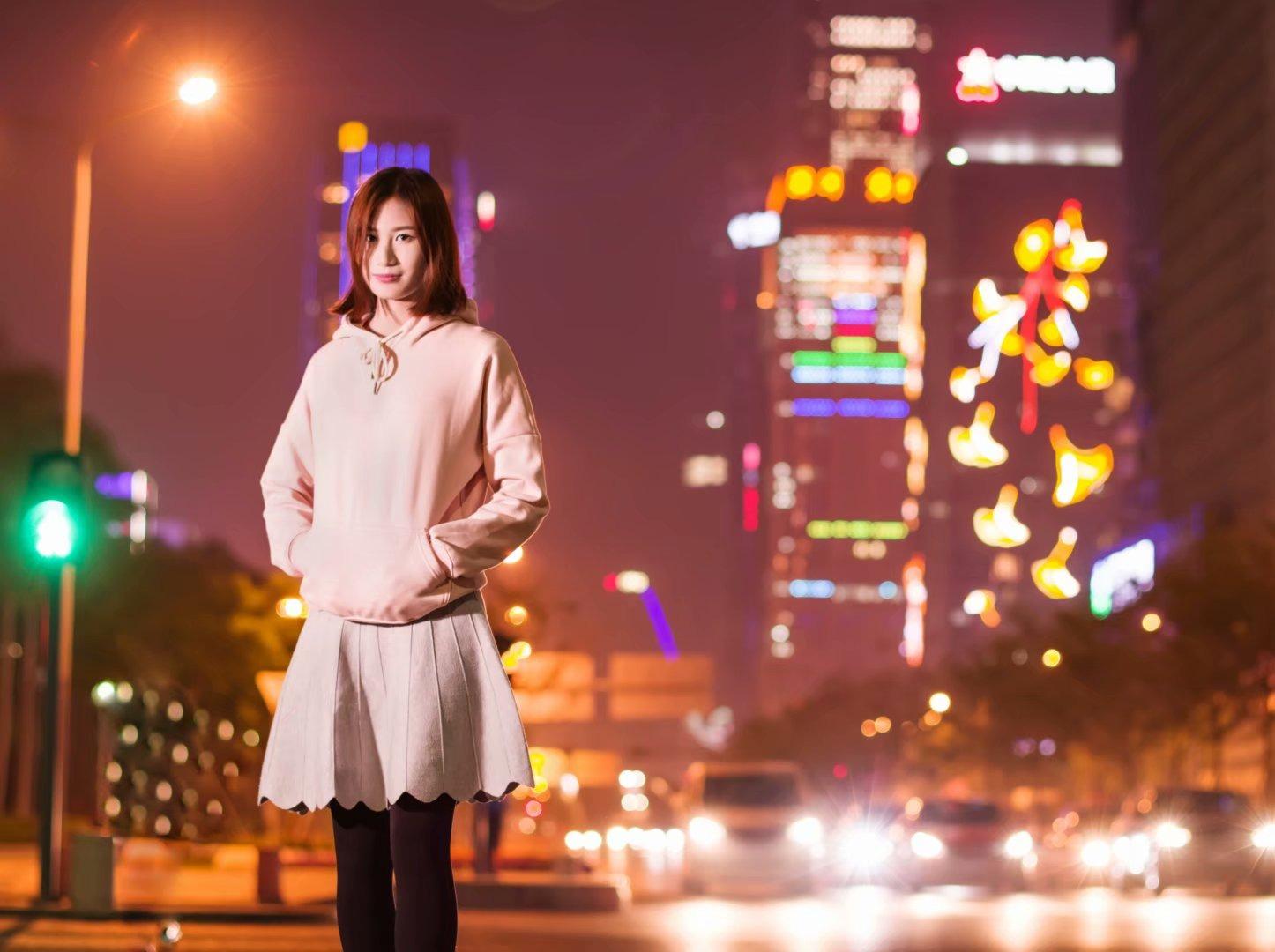 业余玩家夜景交流中心,深圳华强北拍