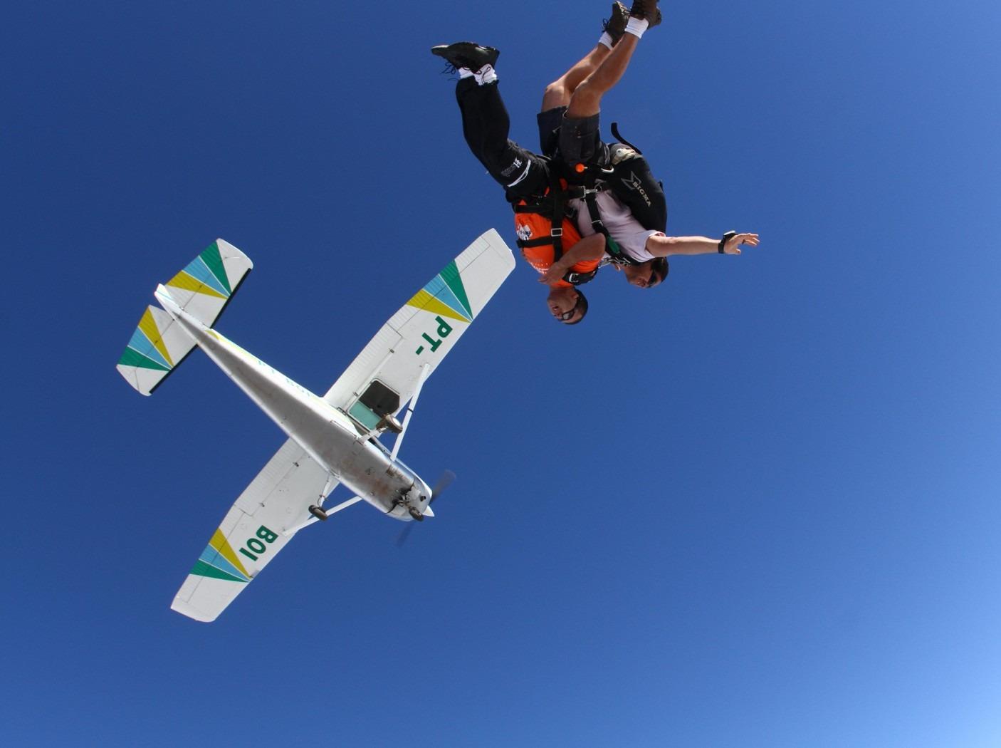 勇敢者的运动~4000米高空跳伞活动