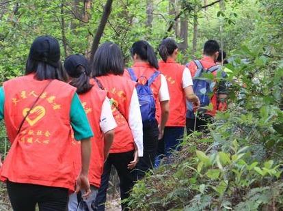 黄埔刘村大山,为大山做一次清理公益