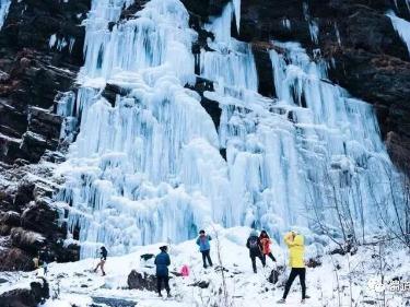 平武虎牙:1月27日-28日徒步看冰瀑。