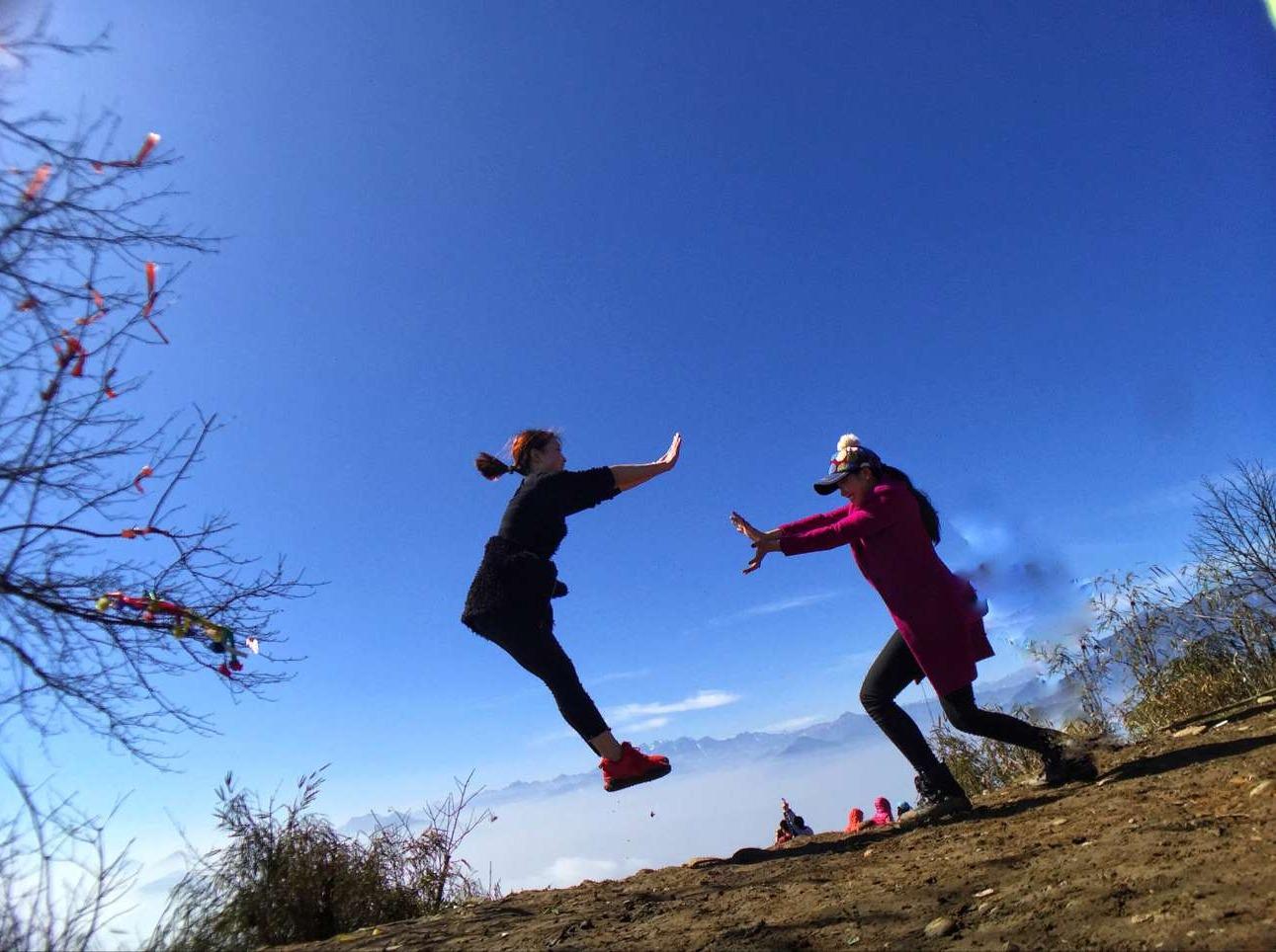 周六登山 赵公山 徒步登山健身吸氧1日游