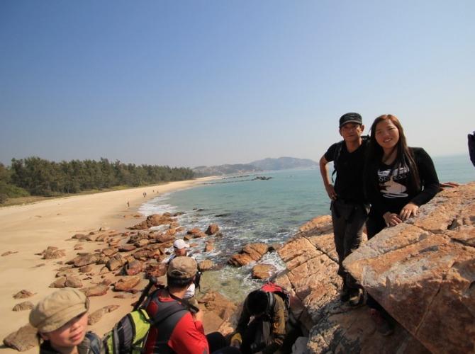 11月11日惠东狮子岛穿越,拾海星