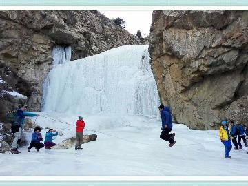 秀美小庙沟25日(周六)观瀑赏雪打雪仗
