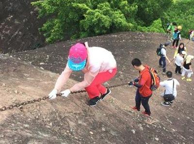 12月23日 惠州马鞍山攀岩一线天奇景
