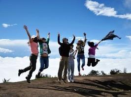 青春主题AA周末相约鸡冠山一日游徒步