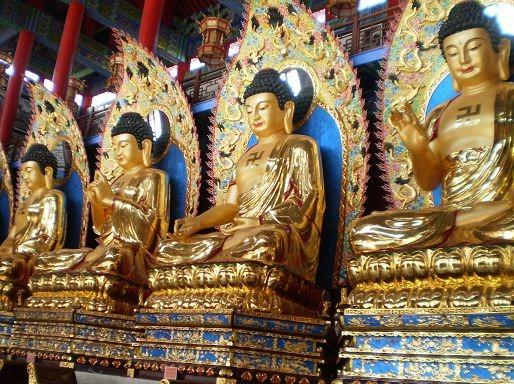 3月5日田庄台游寺庙、逛街、吃美食徒步行
