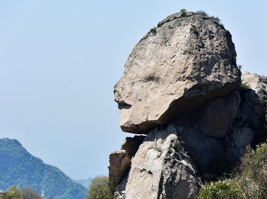 1202登顶人头峰,观千年花岗岩巨石人头