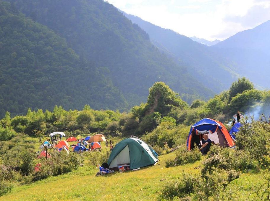 第三期孟屯河谷露营,最美田园山水藏寨