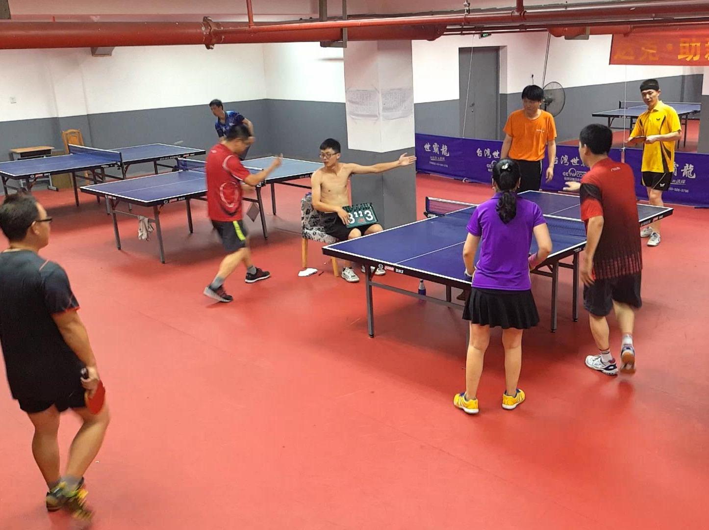 业余乒乓爱好者周六下午活动!