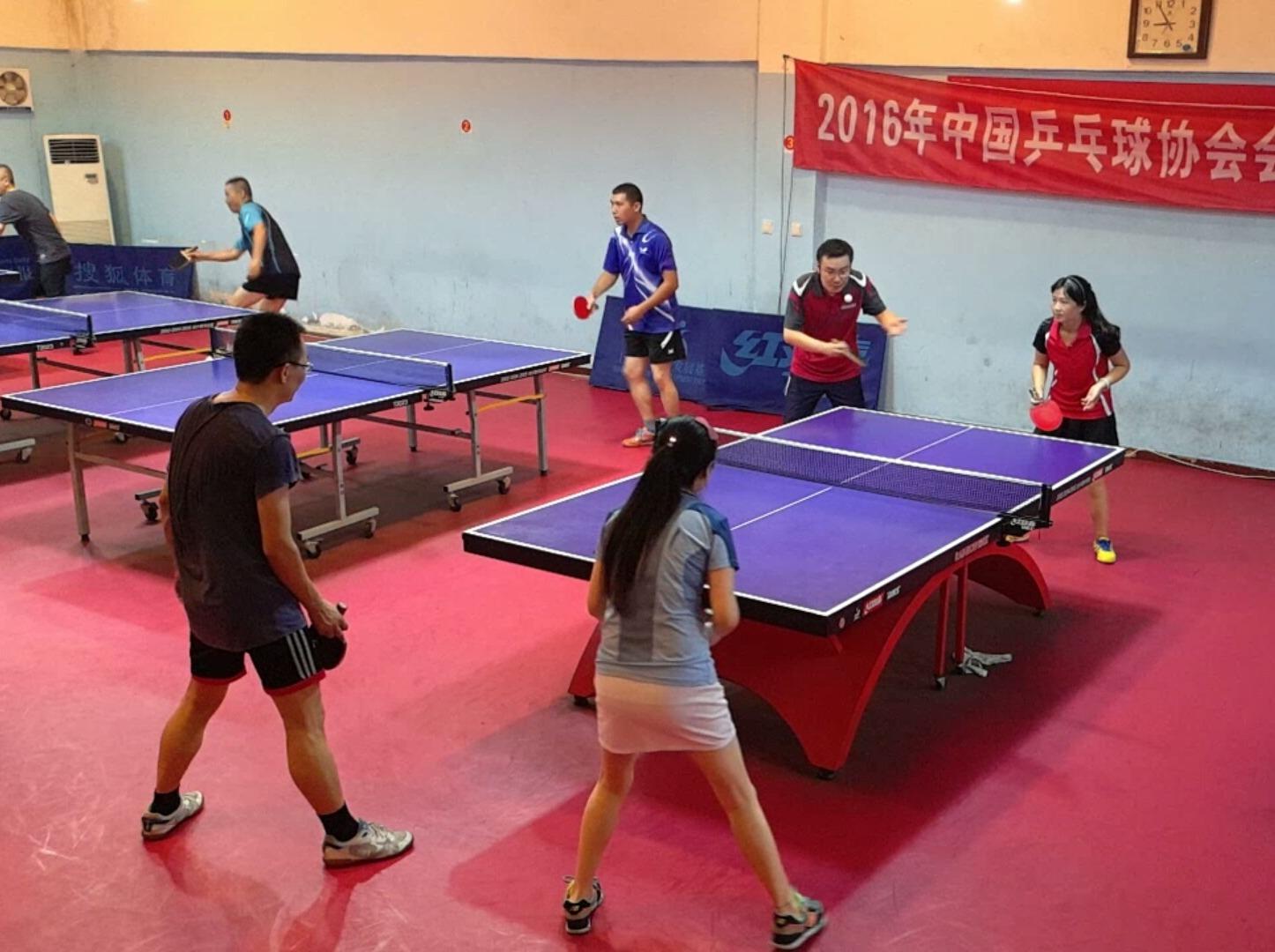 业余乒乓爱好者周日晚上活动!
