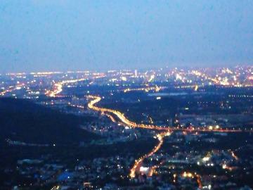 夜爬四棵树观北京夜景
