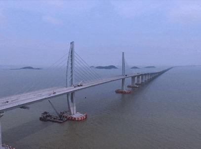 【珠港澳大桥】船游世界最长的跨海大桥