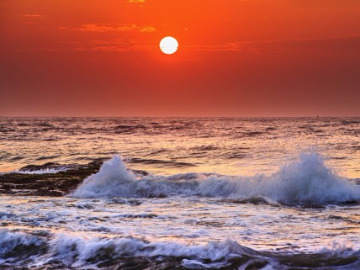 惠东盐州岛看最美日落