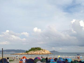 7月30日一天惠东狮子岛沙滩游泳、摄影