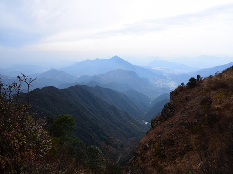 2月19日徒步穿越丛化十高之首—天堂顶