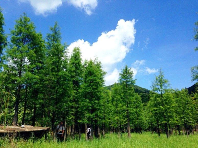 9.17:碧水湖边撩碧水,白云顶上戏白云