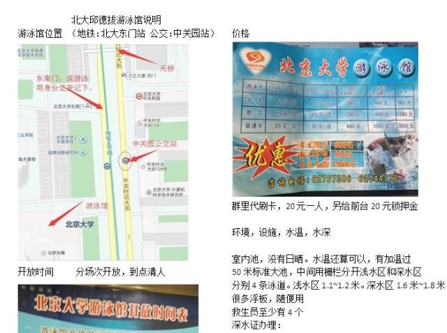 北京大学游泳活动