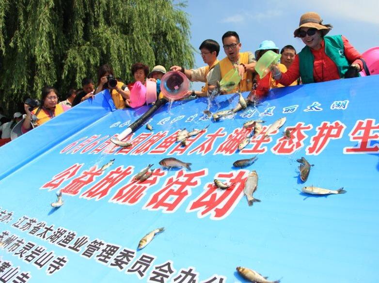 太湖生态护生公益放流活动