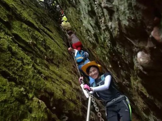 惠州马鞍山徒步、攀岩一线天