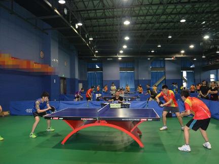 菜鸟乒乓球俱乐部群友第一次约战