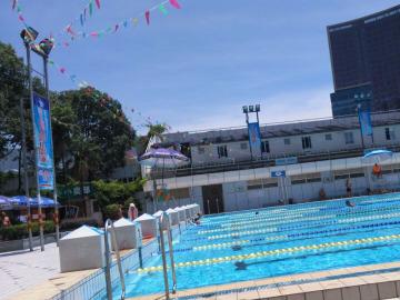 成都游泳村8月14日游泳活动
